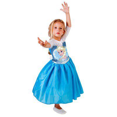Fantasia Frozen - Princesa Elsa - Standard - Infantil