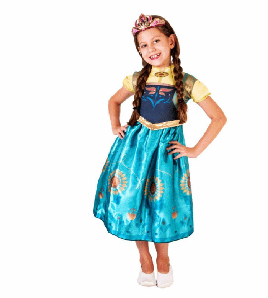 Fantasia Frozen - Princesa Anna - Fever Clássica - Infantil