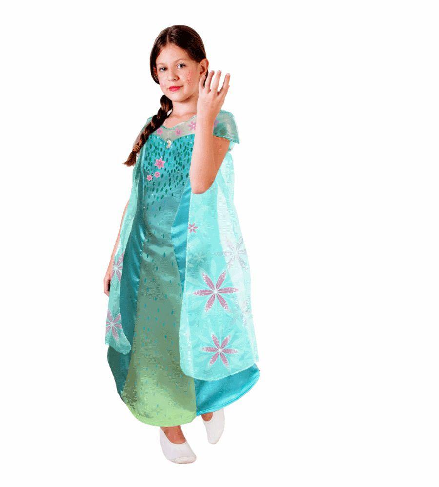 Fantasia Frozen - Princesa Elsa - Fever Clássica - Infantil