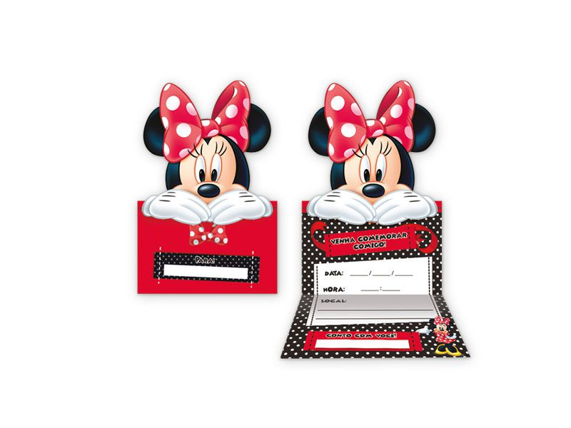 Convite de Aniversário Minnie Mouse