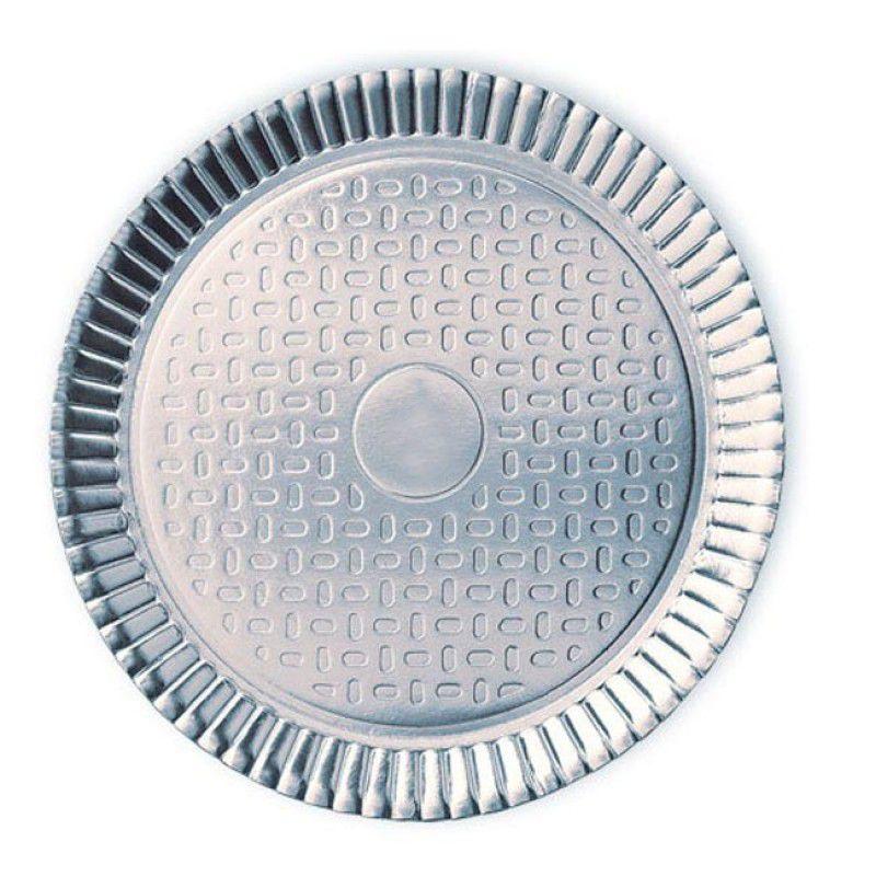 Prato de Papelão - Laminado - Nº 10 - Liso - Prata