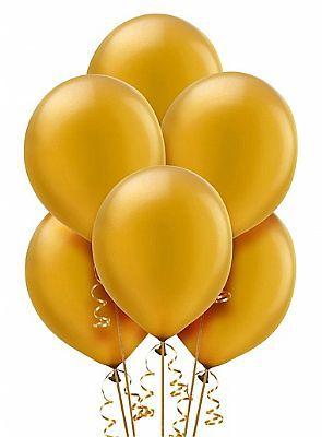 Balão Nº 7 - Liso  - Dourado - c/ 50 unid