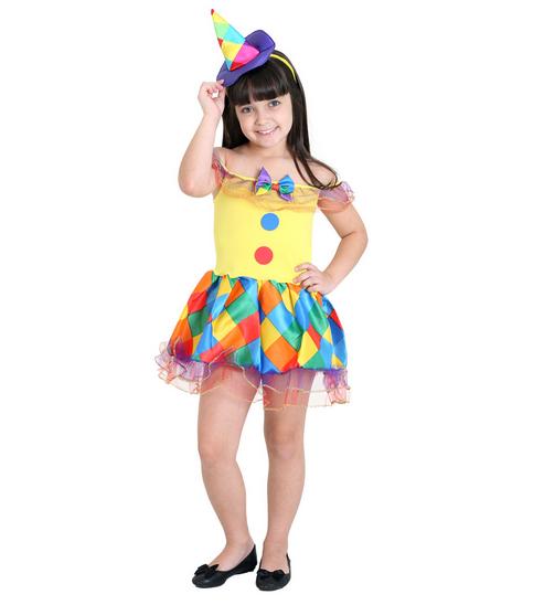 Fantasia Palhacinha Básica - Infantil