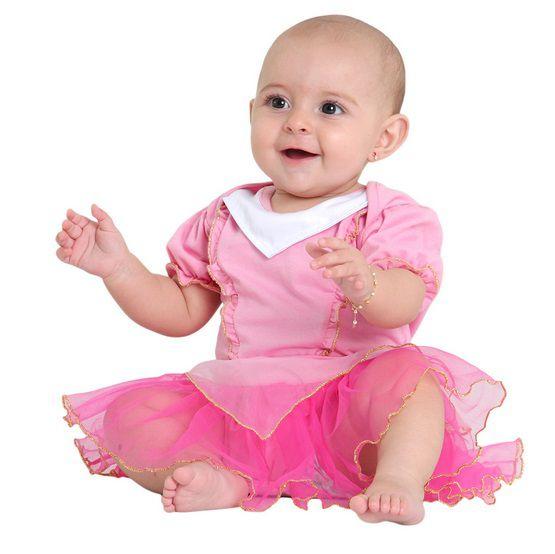 Fantasia Body Verão Princesa Rosa - Infantil