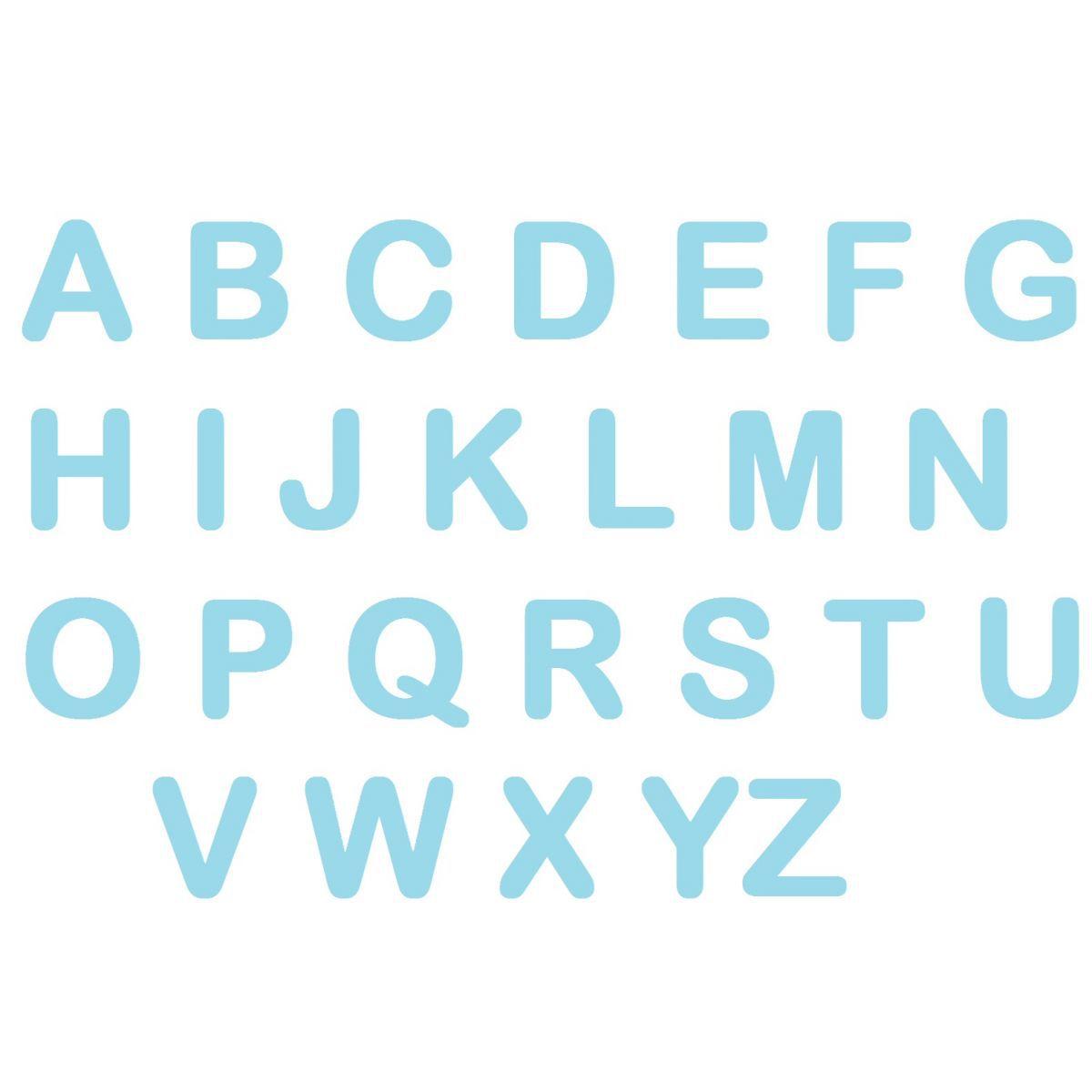 Letras em EVA - Azul Claro