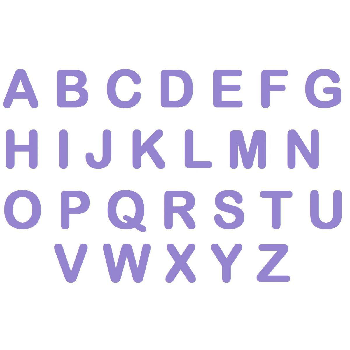 Letras em EVA - Lilás