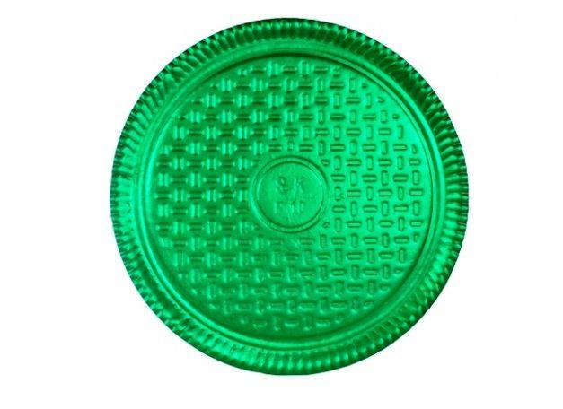 Prato Tabuleiro de Papelão - Laminado - Liso - N 6 - Verde