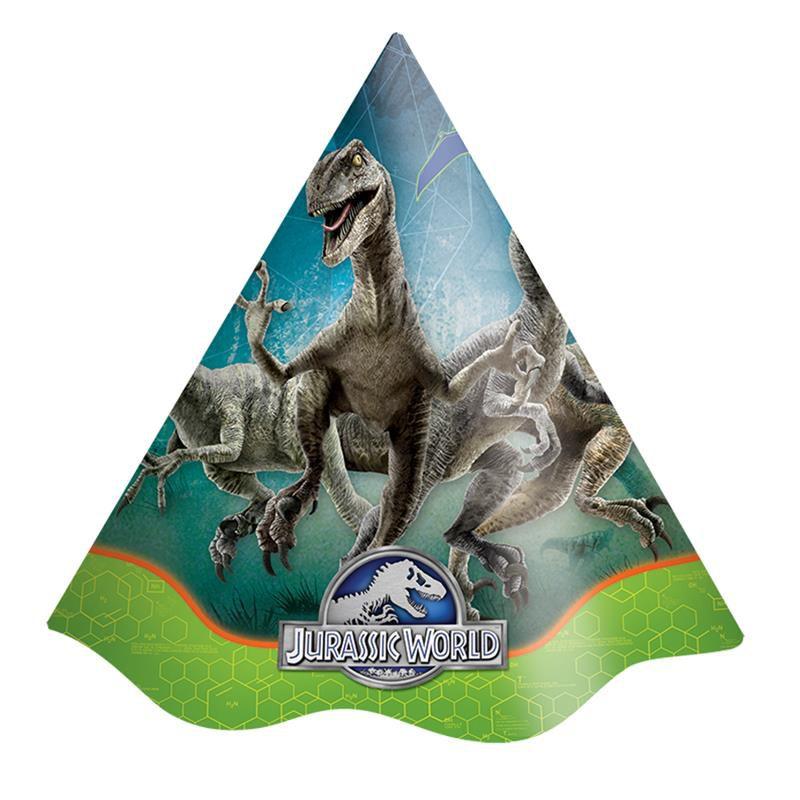 Chapéu de Aniversário Jurassic World - 08 un - Festcolor