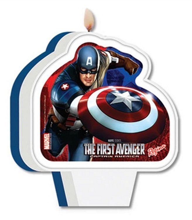 Vela de Aniversário Capitão América