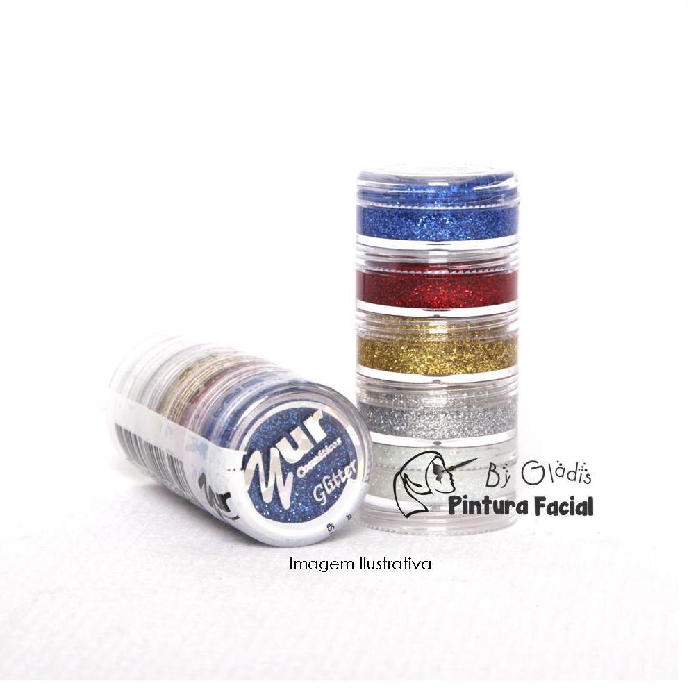 Tinta Glitter Facial Cremosa 5 cores