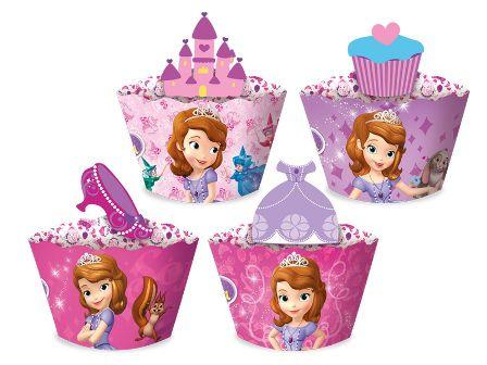 Porta Cupcake Princesinha Sofia