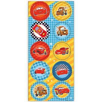 Adesivo Decorativo Redondo - Carros Junior - c/ 3 unid.