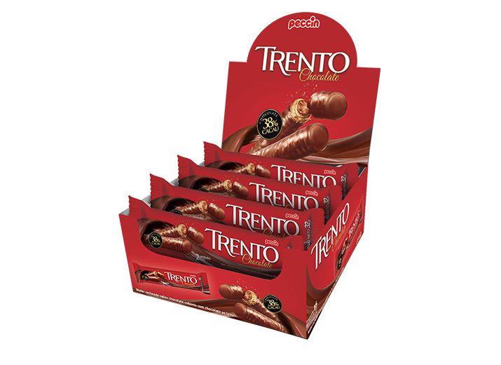 Rolinhos de Wafer Trento Chocolate