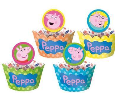 Porta Cupcake Wrapper Peppa Pig - 12 unidades