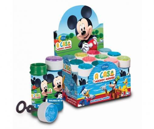 Bolha de sabão Mickey com 12un