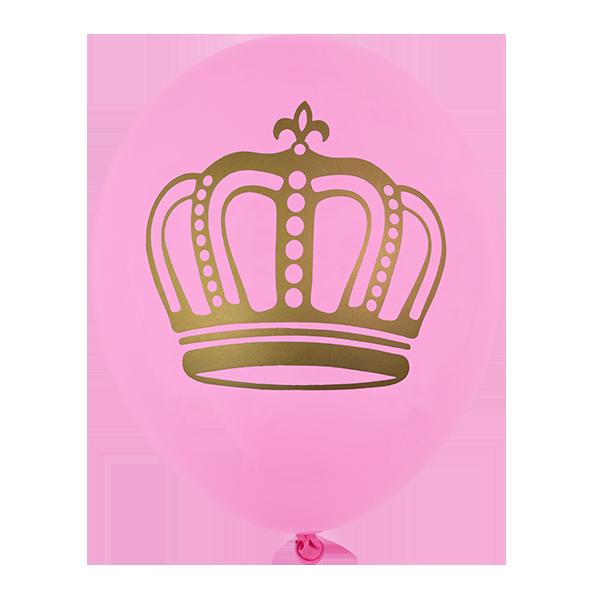 Balão Coroa - Rosa