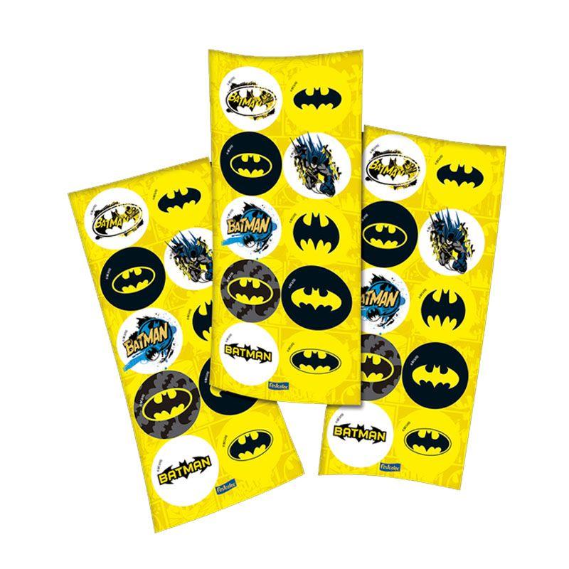Adesivo Redondo Batman - 30 unidades