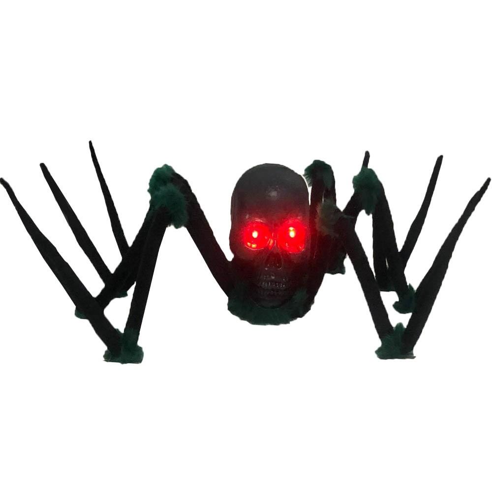 Aranha Caveira Rastejante - Com luz e sons horripilantes