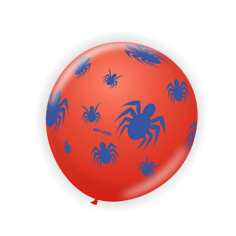 Balão Aranha Vermelho e Azul com 25 unidades