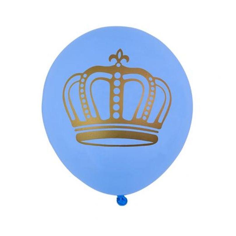 Balão Coroa - Azul
