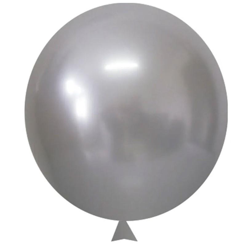 Balão Cromado Prata - 9 polegadas - 25 Unidades