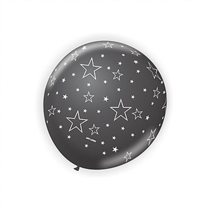 Balão Estrelinhas Preto com Branco N9