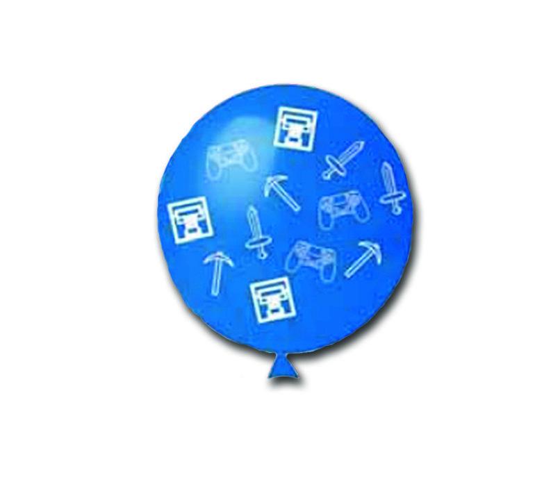 Balão Gamer Azul Celeste com 25 unidades