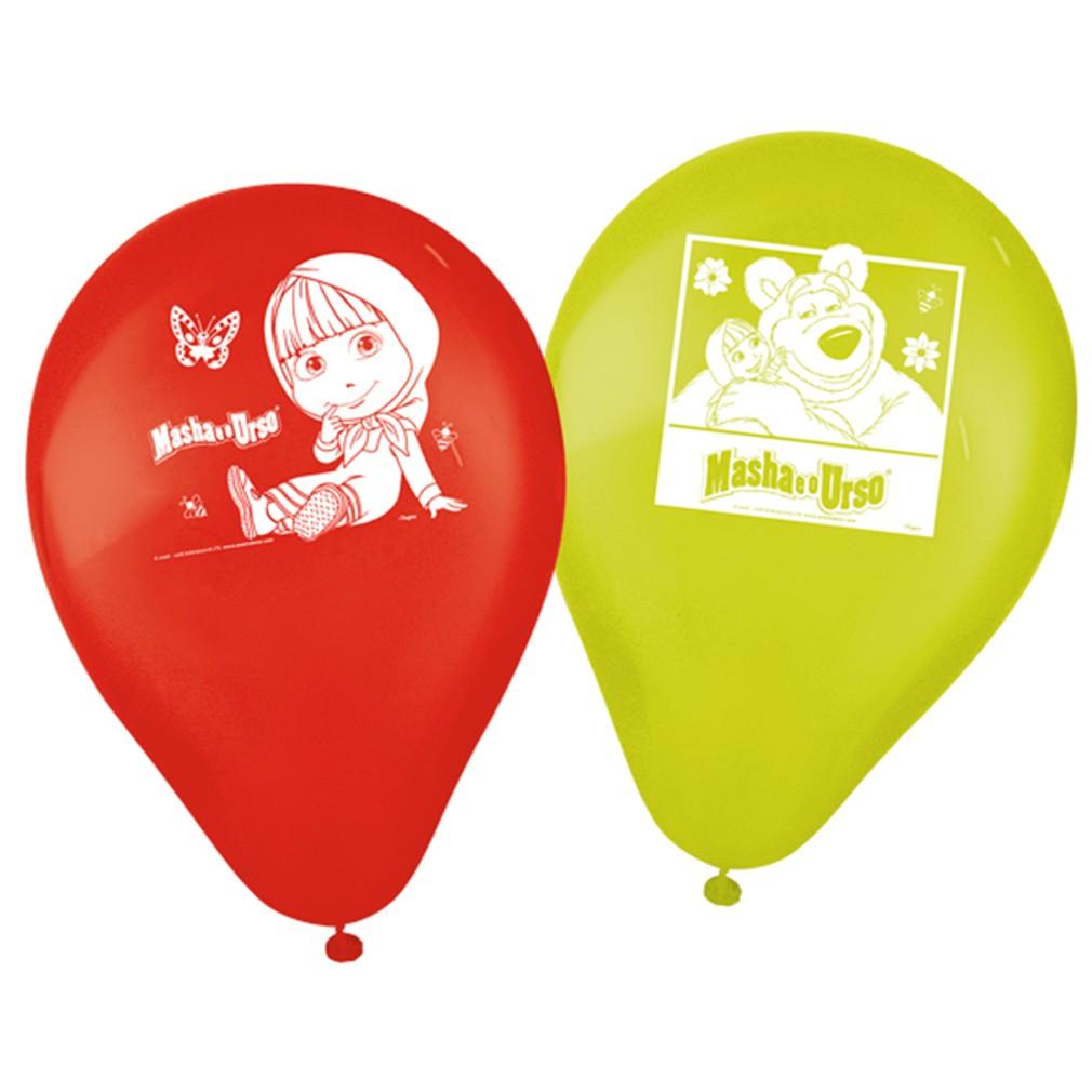 Balão Masha e o Urso - 9 Polegadas - 25 Unidades