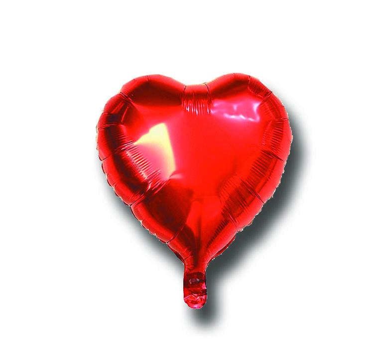 Balão Metalizado Coração Vermelho 18