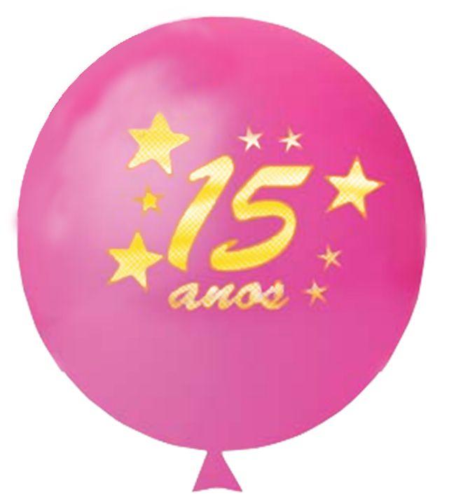 Balão n11 15 anos c/ Glitter