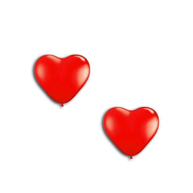 Balão Nº 6  Coração Liso  Vermelho