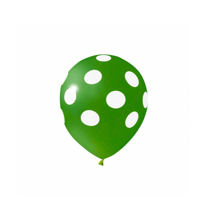 Balão Poá Verde com Branco - ART- LATEX