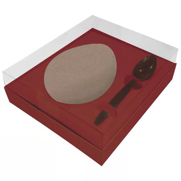 Caixa Ovo de Colher Eco Vermelha