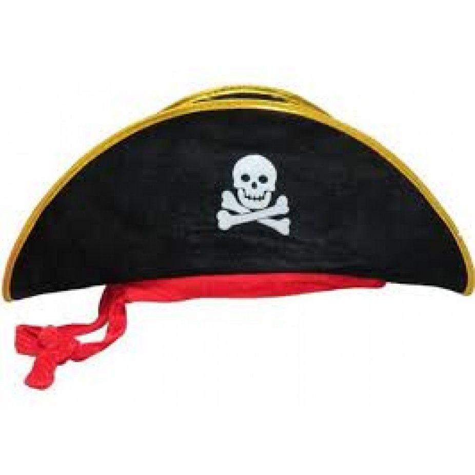 Chapéu de Pirata Luxo Aveludado