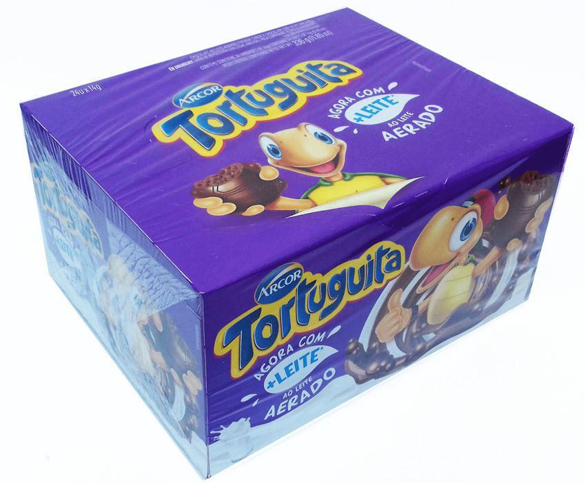 Chocolate Tortuguita ao leite Aerado 336g - 24 unidades