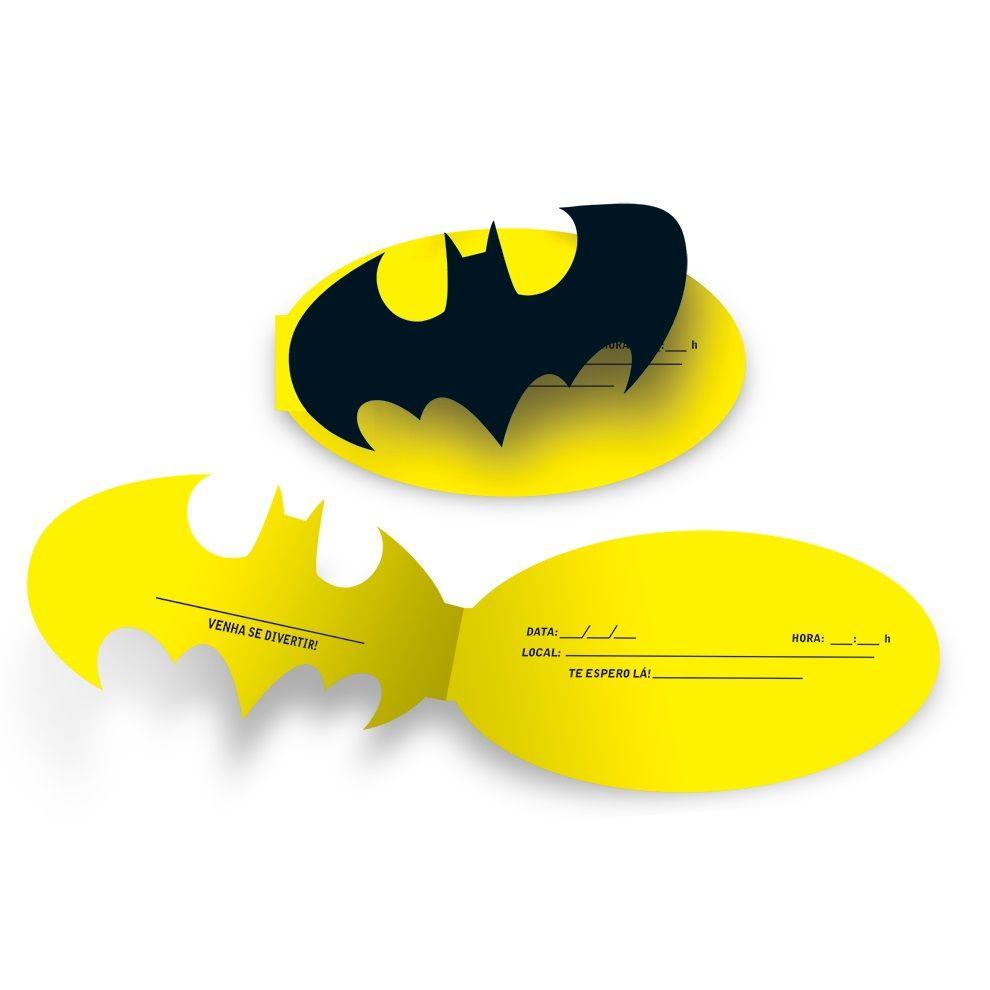Convite de Aniversário Batman c/ 8 unid.