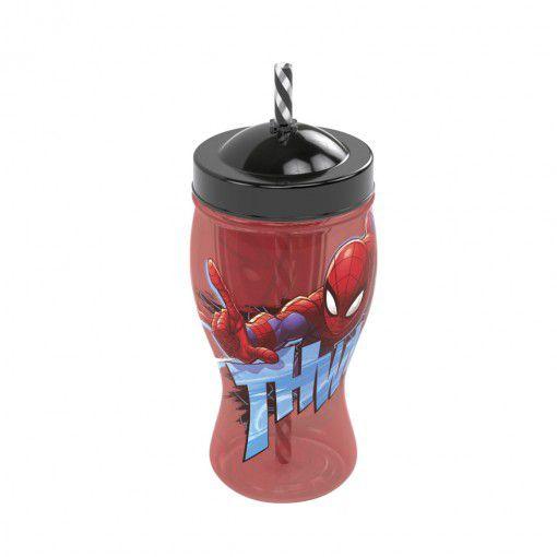 Copo com Canudo Homem Aranha