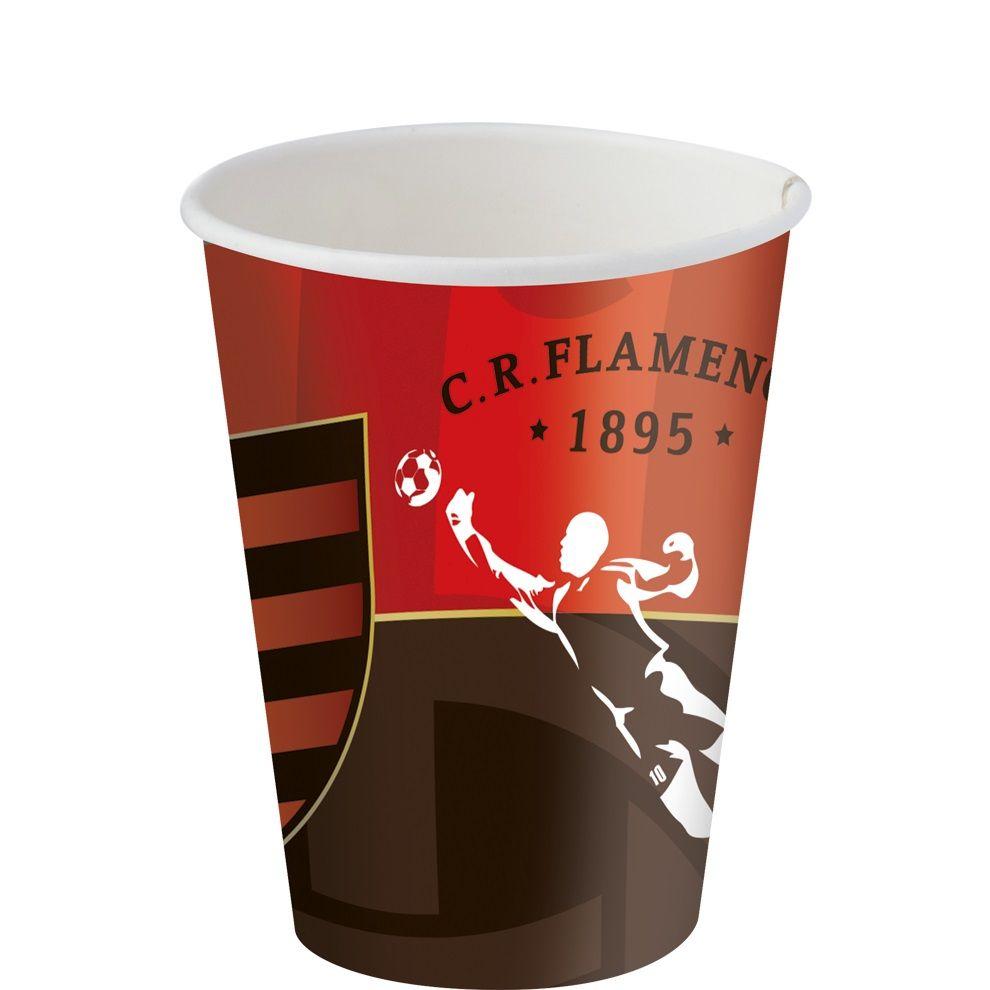 Copo Descartável Flamengo 200ml c/ 8 unid.