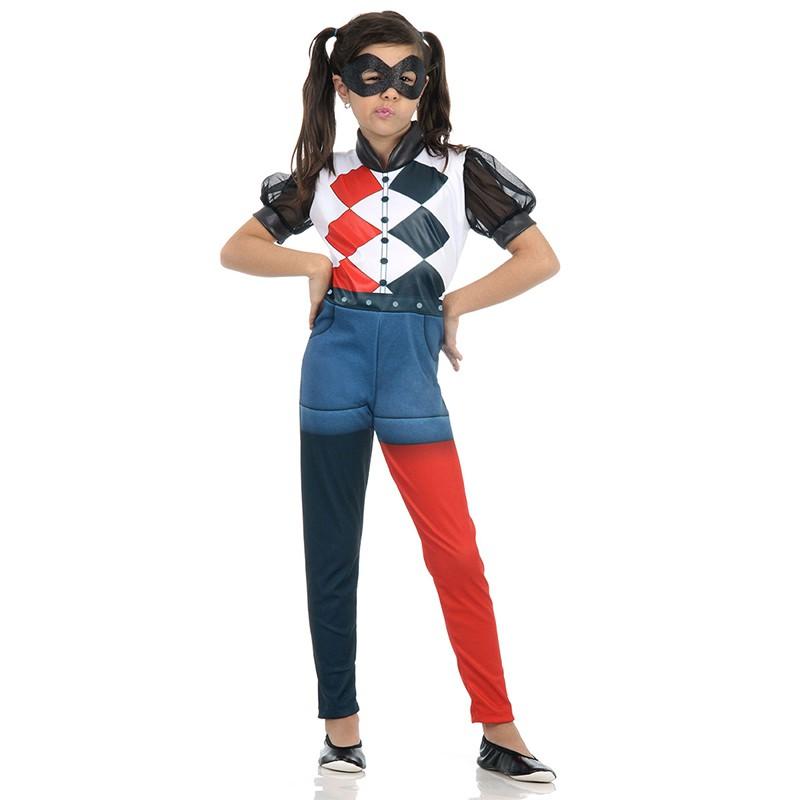 Fantasia Arlequina DC Super Heroes Girls - Infantil