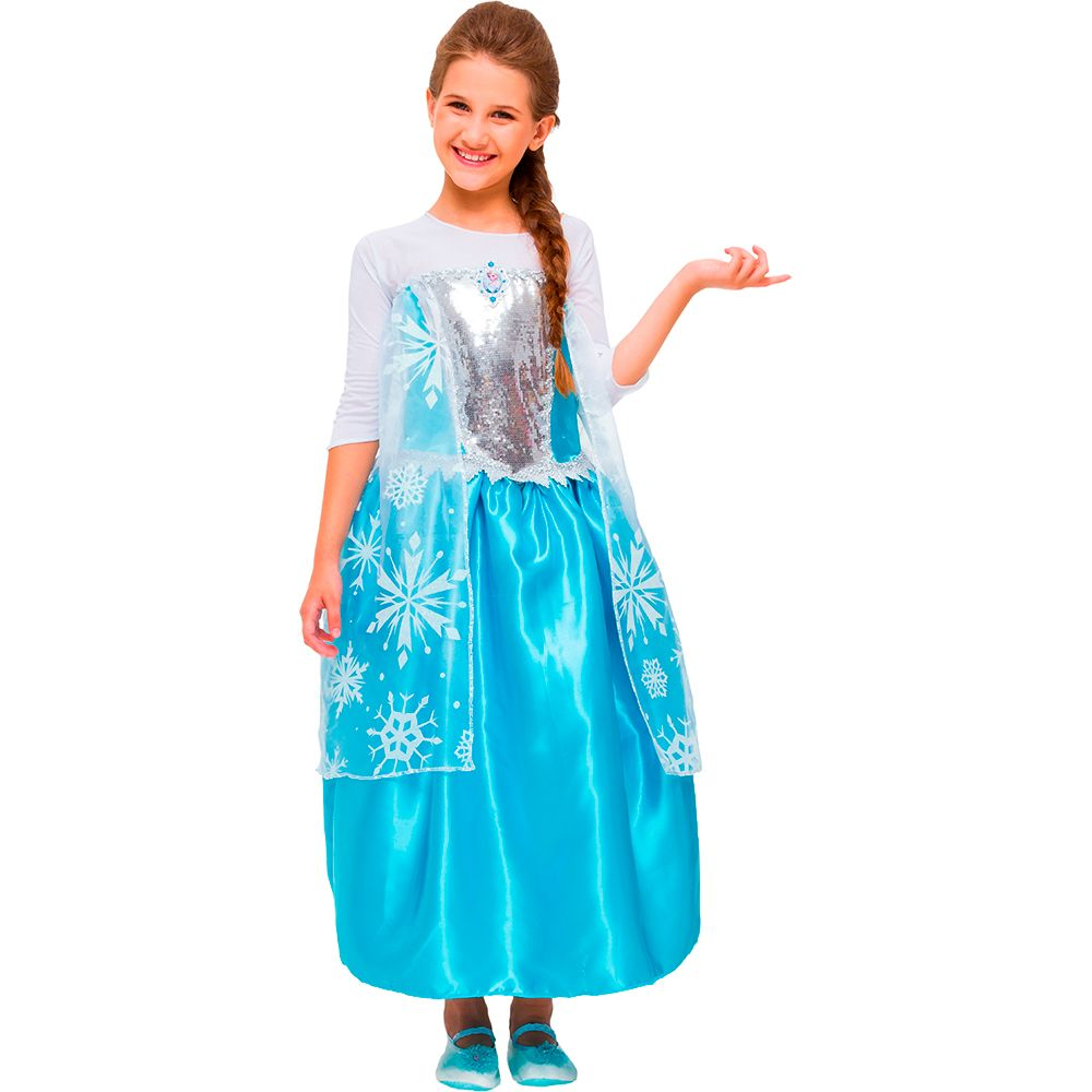 Fantasia Frozen Elsa - Luxo - Infantil