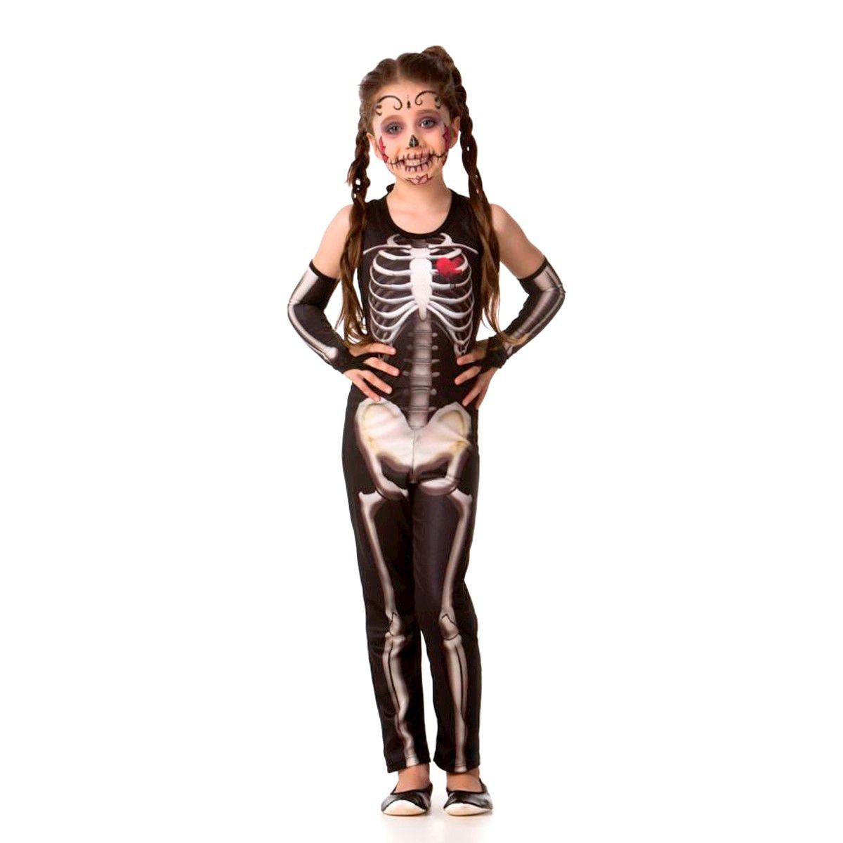 Fantasia Esqueleta Longa sem manga