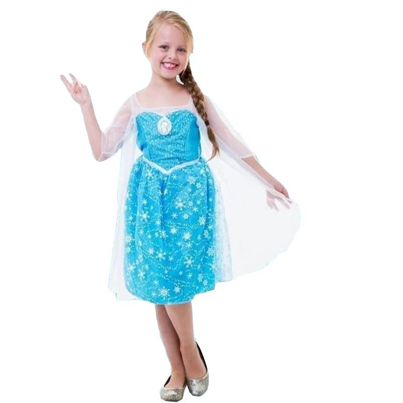 Fantasia Frozen Elsa - Som e  Luz - Infantil