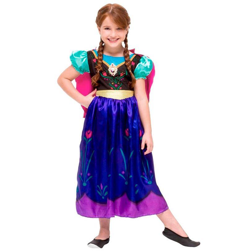 Fantasia Frozen - Princesa Anna - Clássica - Infantil