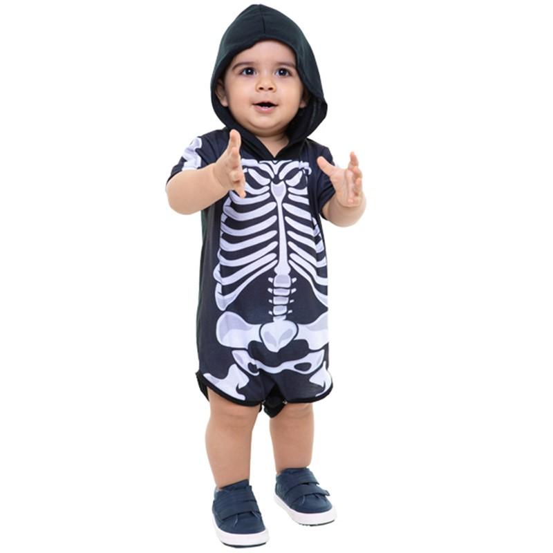 Fantasia Halloween Esqueleto - Bebê