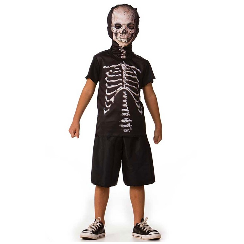 Fantasia Halloween Esqueleto - Clássico - Curto - Infantil
