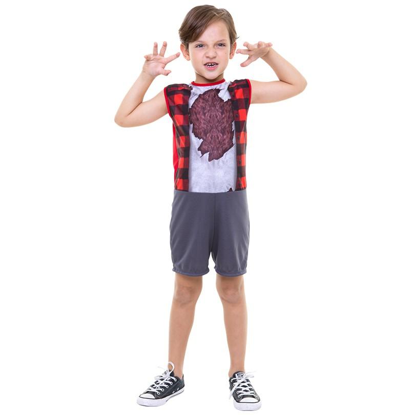 Fantasia Halloween Lobisomem - Infantil