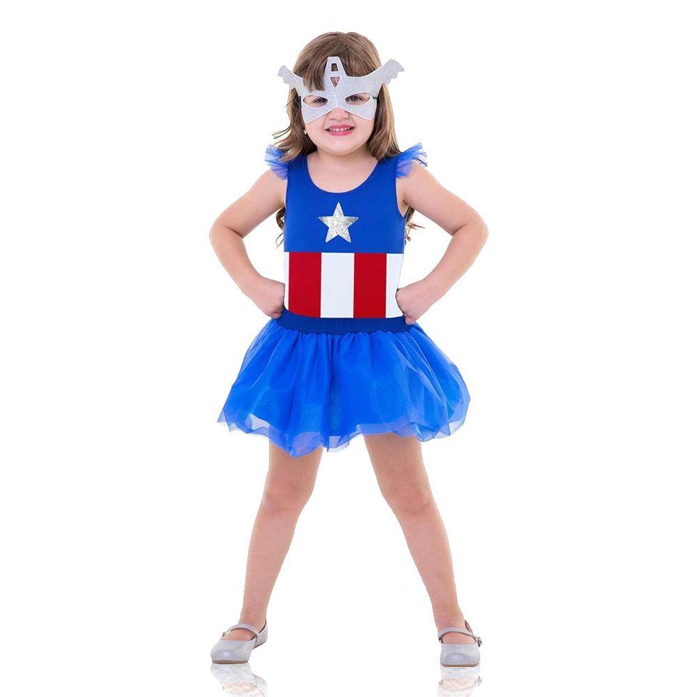 Fantasia Capitã América - Pop - Infantil
