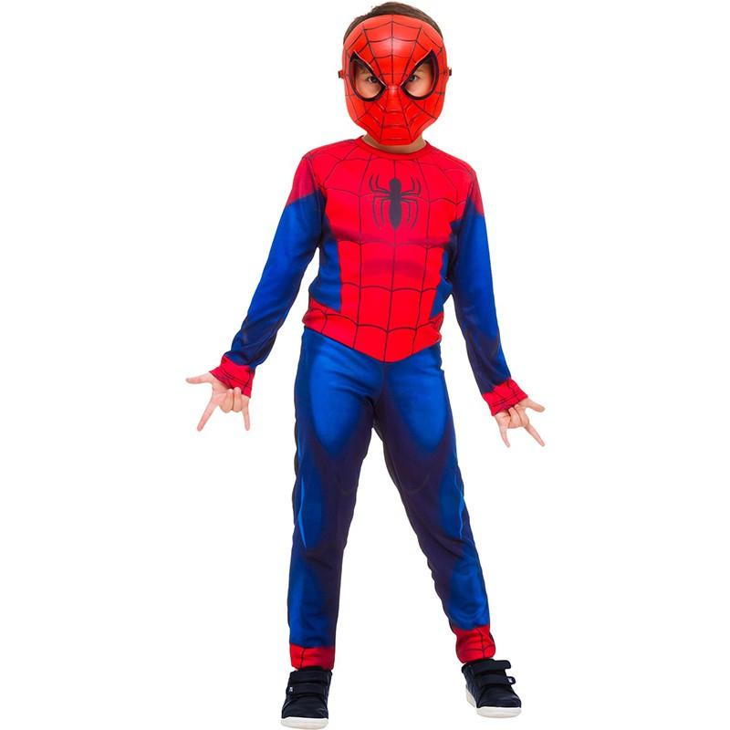 Fantasia Homem Aranha - Infantil - Longa - Clássico