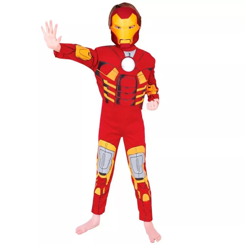 Fantasia Iron Man Deluxe - P Infantil