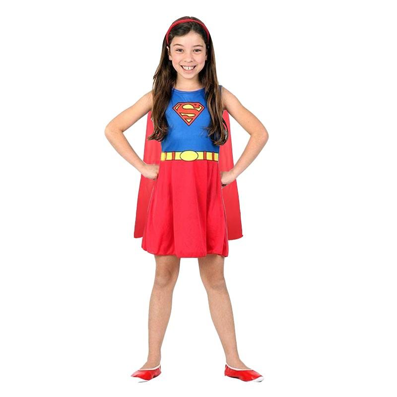 Fantasia Supergirl - Super Pop -  Infantil